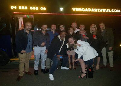 Establishment in the venga party bus